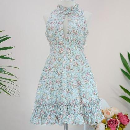 HANDMADE DRESS Marry Floral dress V..