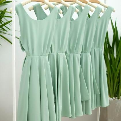 HANDMADE DRESS Sage green dress Sag..