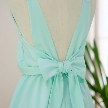 HANDMADE DRESS Mint green dress Min..
