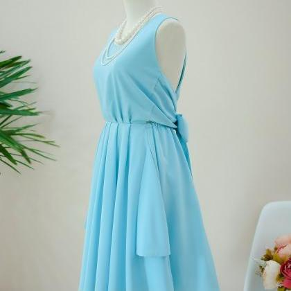 HANDMADE DRESS Blue dress Blue part..