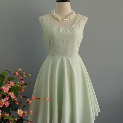 Pale green dress backless dress Pal..