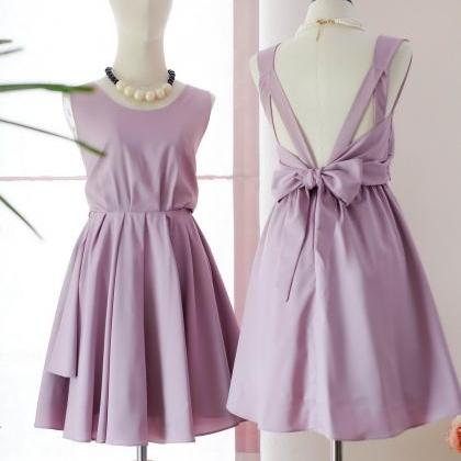HANDMADE DRESS Mauve pink dress Mau..