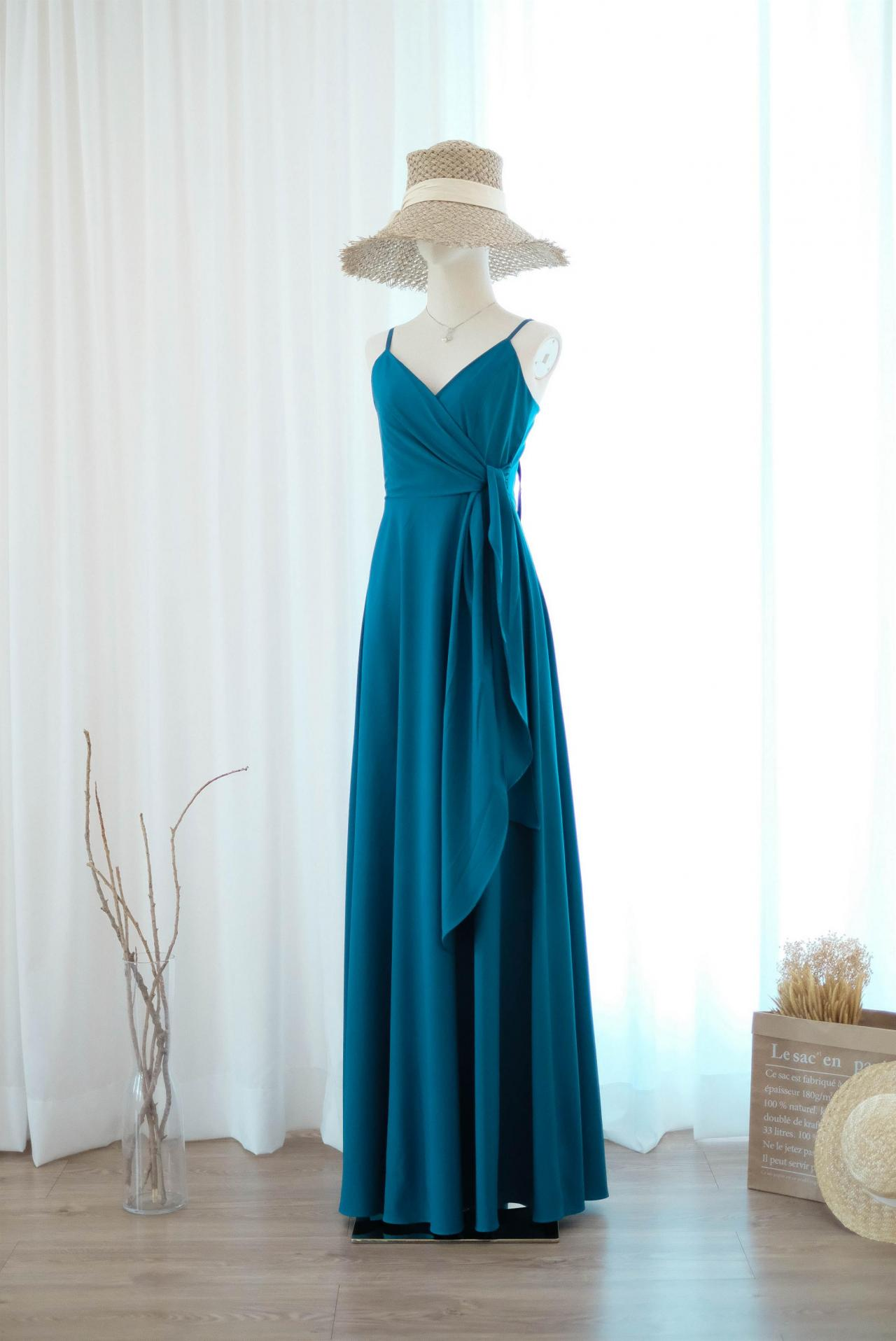 LINH Midnight blue bridesmaid dress bridal dress floor length cocktail party wedding dresses